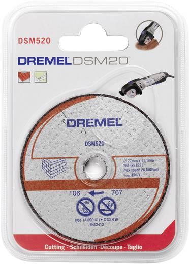 Trennscheibe gerade 77 mm 11.1 mm Dremel DSM 520 2615S520JA 2 St.