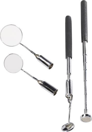 Inspektionsspiegel-Set 5teilig mit LED-Beleuchtung TOOLCRAFT 816419