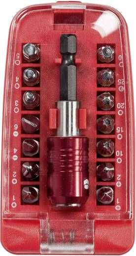 Bit-Set 15teilig TOOLCRAFT 816472 Kreuzschlitz Phillips, Kreuzschlitz Pozidriv, Innen-Sechskant, Innen-TORX