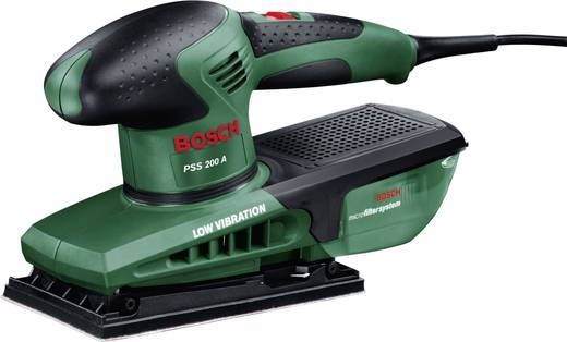 Schwingschleifer inkl. Koffer 200 W Bosch Home and Garden PSS 200 A 0603340300 115 x 230 mm