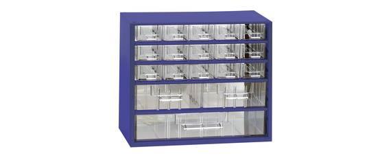 Aufbewahrungsmagazin mit 18 Schubladen für die Werkstatt