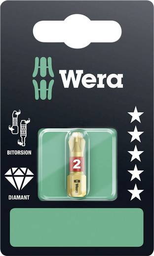 Kreuzschlitz-Bit PH 2 Wera 851/1 BDC B SB Werkzeugstahl diamantbeschichtet, legiert D 6.3 1 St.