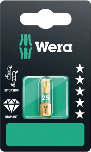 Torx-Bit T 10 Wera 867/1 BDC SB SiS Werkzeugstahl legiert, diamantbeschichtet D 6.3 1 St.