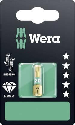 Embout Torx T 20 Wera 05134376001 Acier à outils allié, revêtement diamanté Forme: D 6.3 1 pc(s)