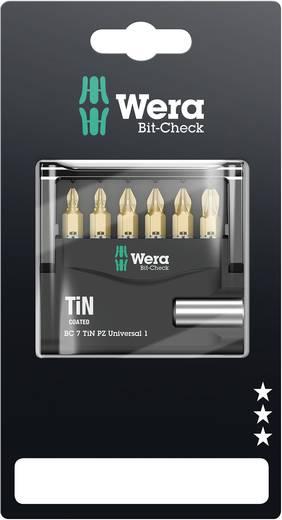 Bit-Set 7teilig Wera Mini-houder PZ TIN SB 05073538001 Kreuzschlitz Pozidriv