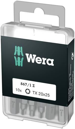 Torx-Bit T 10 Wera 867/1 Z DIY SiS Werkzeugstahl legiert, zähhart D 6.3 10 St.