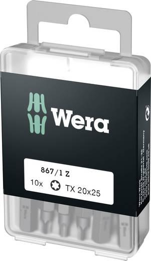 Torx-Bit T 20 Wera 867/1 Z DIY SiS Werkzeugstahl legiert, zähhart D 6.3 10 St.