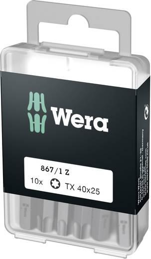 Torx-Bit T 40 Wera 867/1 Z DIY SiS Werkzeugstahl legiert, zähhart D 6.3 10 St.