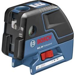 Bodový laser samonivelačná Bosch Professional GCL 25, Kalibrované podľa: bez certifikátu