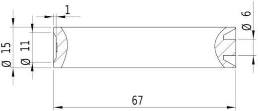 Lasermodul Linie Rot 5 mW Laserfuchs LFL650-5-4.5(15x68)60