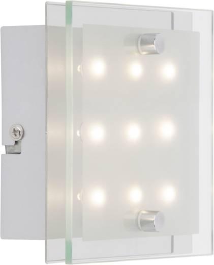 LED-Wandleuchte 0.8 W Warm-Weiß Brilliant San Francisco G94146/15 Chrom, Weiß, Transparent