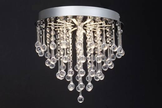 LED-Deckenleuchte 15 W Warm-Weiß Brilliant Svea Svea Chrom, Transparent