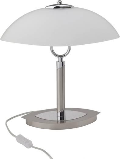 Tischlampe Halogen E14 80 W Brilliant Lille 92929/77 Eisen, Chrom, Weiß