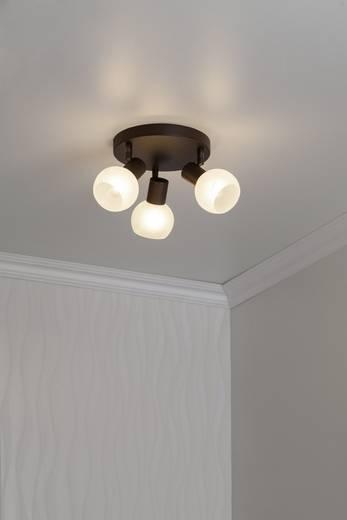 Deckenstrahler Energiesparlampe E14 120 W Brilliant 12934/20 Braun, Weiß