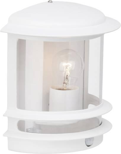 Brilliant Holly 47897/05 Außenwandleuchte mit Bewegungsmelder Energiesparlampe, LED E27 60 W Weiß