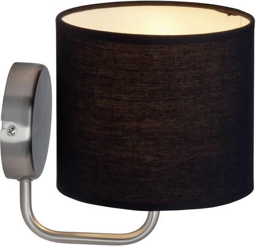 Wandleuchte E14 40 W Halogen, Energiesparlampe Brilliant Sandra 85010/76 Schwarz, Eisen