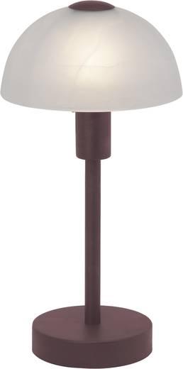 Tischlampe Halogen E14 40 W Brilliant Amira 77347/20 Braun, Weiß