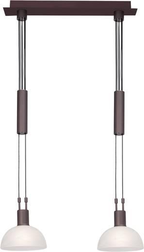 Pendelleuchte Energiesparlampe E14 80 W Brilliant Amira 77371/20 Braun, Weiß