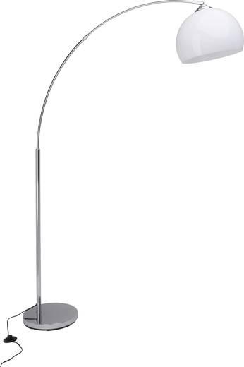 Stehlampe Halogen E27 60 W Brilliant Vessa 92940/75 Chrom, Weiß