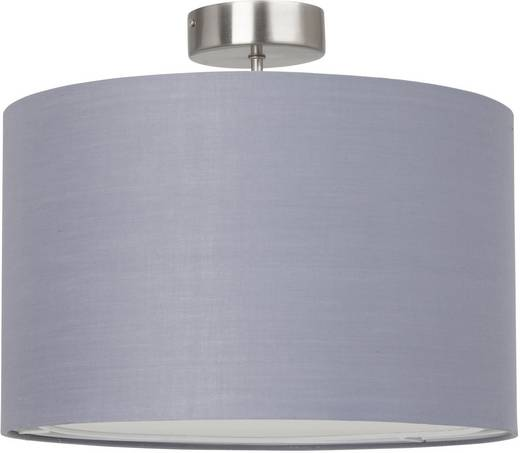 Deckenleuchte Energiesparlampe E27 60 W Brilliant Claire 13291/22 Eisen, Grau