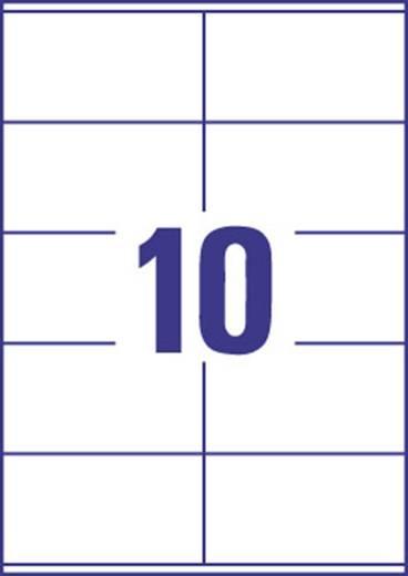 Europe 100 ELA022 Etiketten (A4) 105 x 57 mm Papier Weiß 1000 St. Permanent Kraftkleber-Etiketten, Universal-Etiketten,