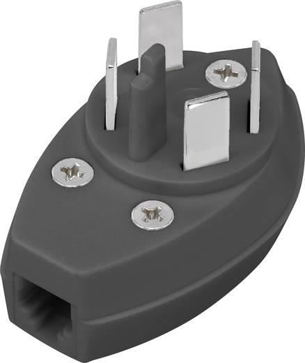 Telefon (analog) Adapter [1x Telefon-Stecker Schweden - 1x RJ11-Buchse 6p4c] 0 m Schwarz
