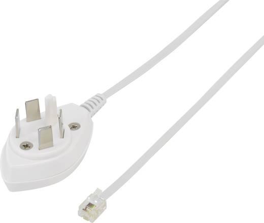 Telefon (analog) Anschlusskabel [1x Telefon-Stecker Schweden - 1x RJ11-Stecker 6p4c] 0.50 m Weiß