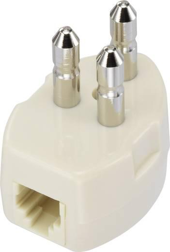 Telefon (analog) Anschlusskabel [1x Telefon-Stecker Schweden - 1x RJ11-Stecker 6p4c] 1 m Weiß