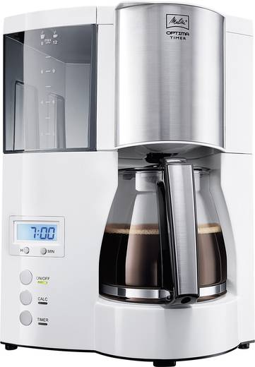 Melitta Optima Timer ws Kaffeemaschine Weiß Fassungsvermögen Tassen=12 Display, Timerfunktion, Warmhaltefunktion