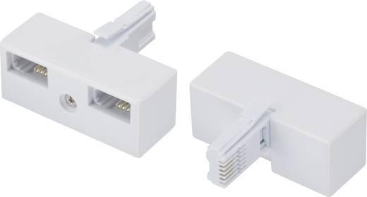 Telefon (analog) Y-Adapter [1x Telefon-Stecker England - 2x Telefon-Buchse England] 0 m Weiß