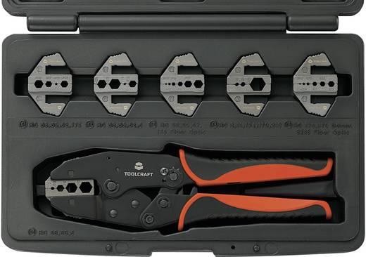 TOOLCRAFT 818645 Crimpzange 7teilig Koaxial-Steckverbinder BNC, TNC, LWL-Stecker RG6, RG8, RG11, RG58, RG59, RG62, R