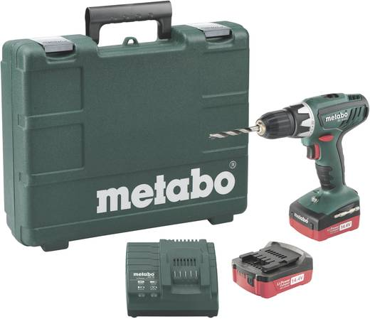 metabo bs 14 4 li mobile werkstatt akku bohrschrauber 14 4 v 1 5 ah li ion inkl 2 akku inkl. Black Bedroom Furniture Sets. Home Design Ideas