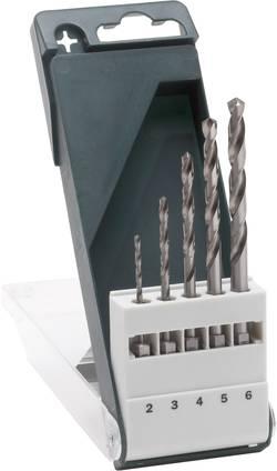 Sada spirálových vrtáku do kovu Bosch Accessories 2609255127, 2 mm, 3 mm, 4 mm, 5 mm, 6 mm, HSS, 1 sada