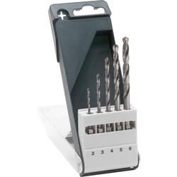 Sada spirálových vrtáku do kovu Bosch Accessories 2609255127, 2 mm, 3 mm, 4 mm, 5 mm, 6 mm, HSS, 1 s