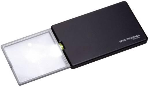 Handlupe mit LED-Beleuchtung Vergrößerungsfaktor: 3 x Linsengröße: (L x B) 86 mm x 54 mm Schwarz Eschenbach