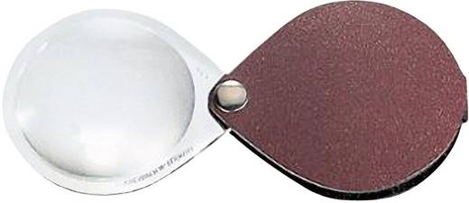 Leder-Einschlaglupe Vergrößerungsfaktor: 3.5 x Linsengröße: (Ø) 60 mm Rot Eschenbach 1740160