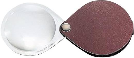 Leder-Einschlaglupe Vergrößerungsfaktor: 6 x Linsengröße: (Ø) 30 mm Rot Eschenbach 1740130
