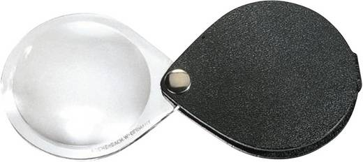 Leder-Einschlaglupe Vergrößerungsfaktor: 3.5 x Linsengröße: (Ø) 50 mm Schwarz Eschenbach 1740550