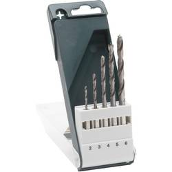 Sada špirálových vrtákov do dreva Bosch Accessories 2609255326, 2 mm, 3 mm, 4 mm, 5 mm, 6 mm, 1 sada