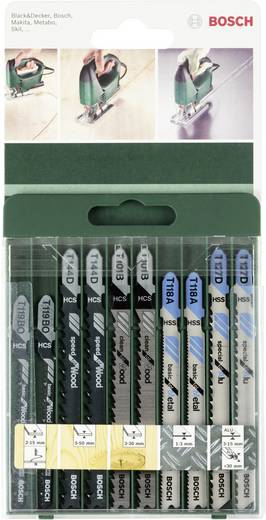 10tlg Stichsägeblatt-Set T Schaft Bosch Accessories 2609256746 10 St.