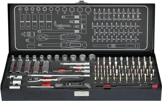 """Steckschlüsselsatz metrisch 1/4"""" (6.3 mm) 79teilig TOOLCRAFT 818956"""