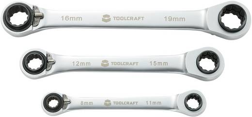 Doppel-Ratschenringschlüssel-Satz 3teilig 8 - 19 mm TOOLCRAFT 819162