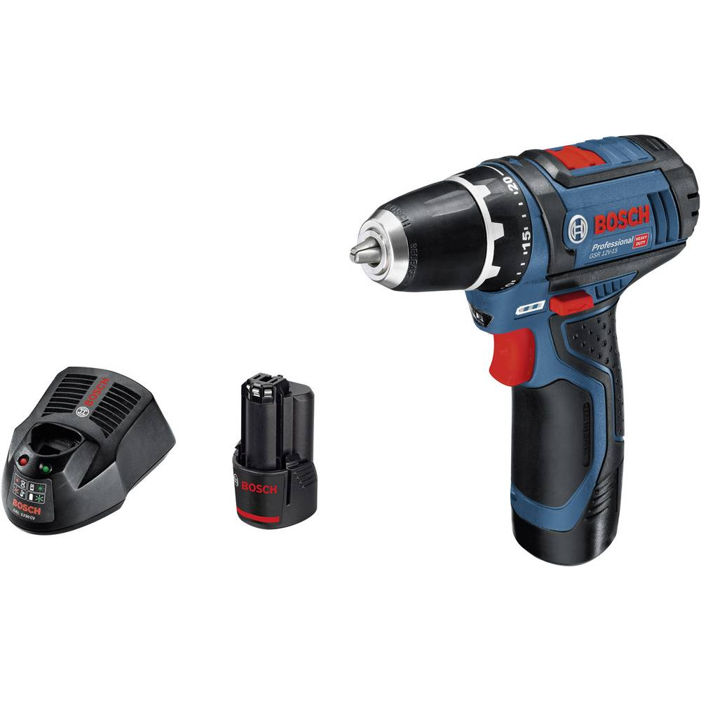 bosch professional gsr 10 8 2 li cordless drill 10 8 v 2 ah li ion incl spare battery from. Black Bedroom Furniture Sets. Home Design Ideas