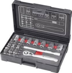 """Sada bitů a nástrčných klíčů s ráčnou TOOLCRAFT 1603975, 1/4"""" (6,3 mm), 27dílná, výroční edice"""
