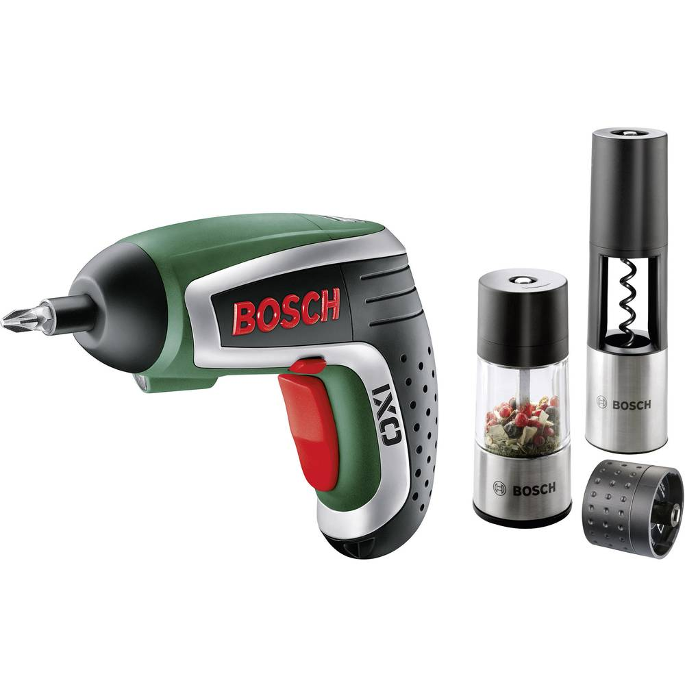 bosch ixo gourmet cordless lithium ion screwdriver with corkscrew and spice mill from. Black Bedroom Furniture Sets. Home Design Ideas