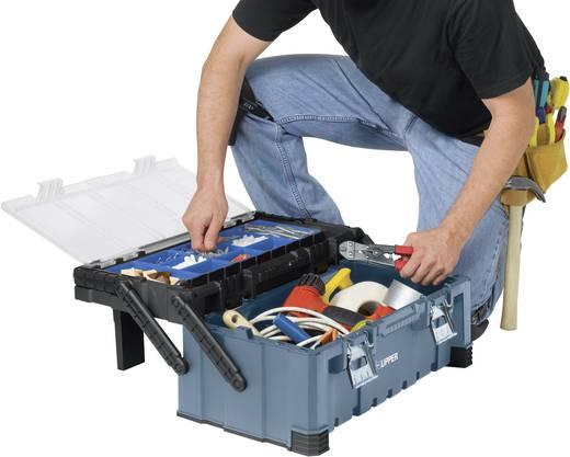 Werkzeugkasten unbestückt Küpper 50020 Kunststoff Schwarz, Blau