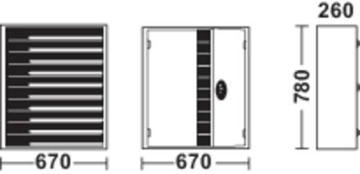 TOP-FIX-Regalschrank Hellsilber (B x H x T) 670 x 780 x 260 mm Anzahl Lager-Kästen 12 Stück LF21112 Stück LF221
