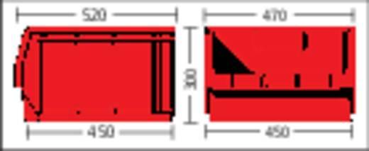 Sichtlagerkasten (B x H x T) 470 x 300 x 500 mm Rot LF543 GZW 1 St.
