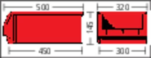 Sichtlagerkasten (B x H x T) 312 x 145 x 500 mm Grün LF531 GZW 1 St.