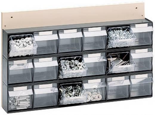Klarsichtmagazin (B x H x T) 600 x 410 x 108 mm Grau, Transparent MultiStore 1 St.